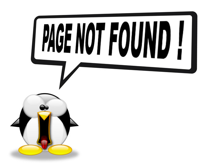 tux page not found